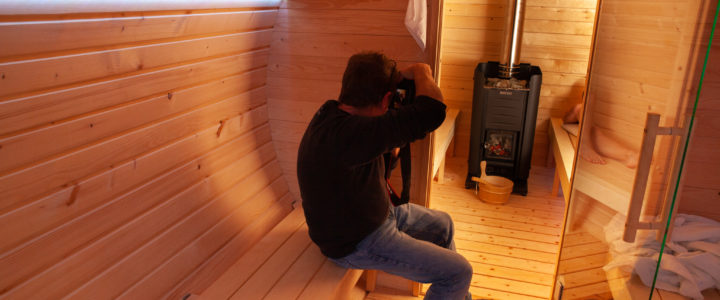 Fotoshooting in Enzos Sauna