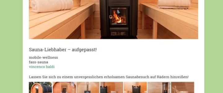 Die Webseite von Enzos-Sauna geht online